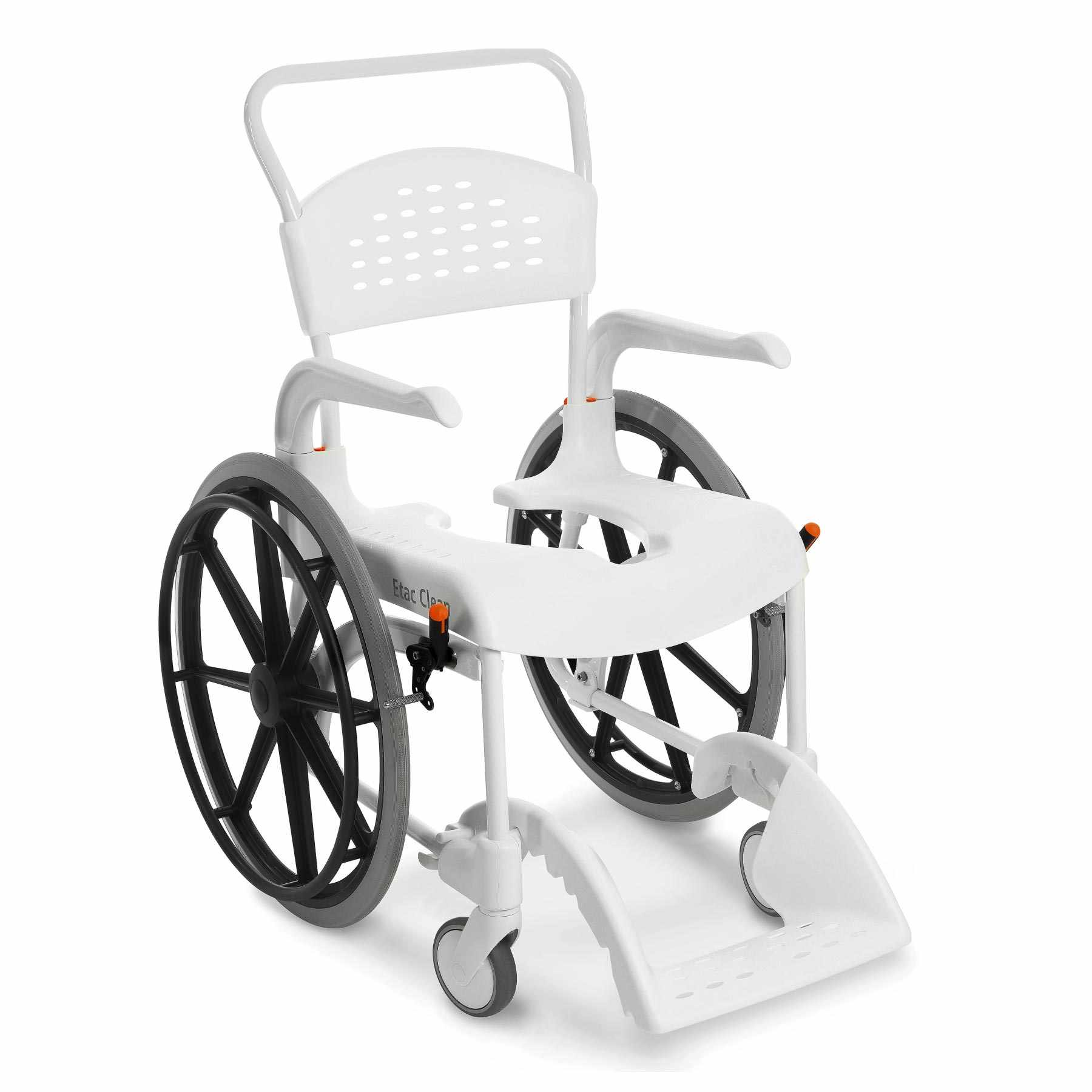 "Etac Clean 22"" mobile shower commode chairs"