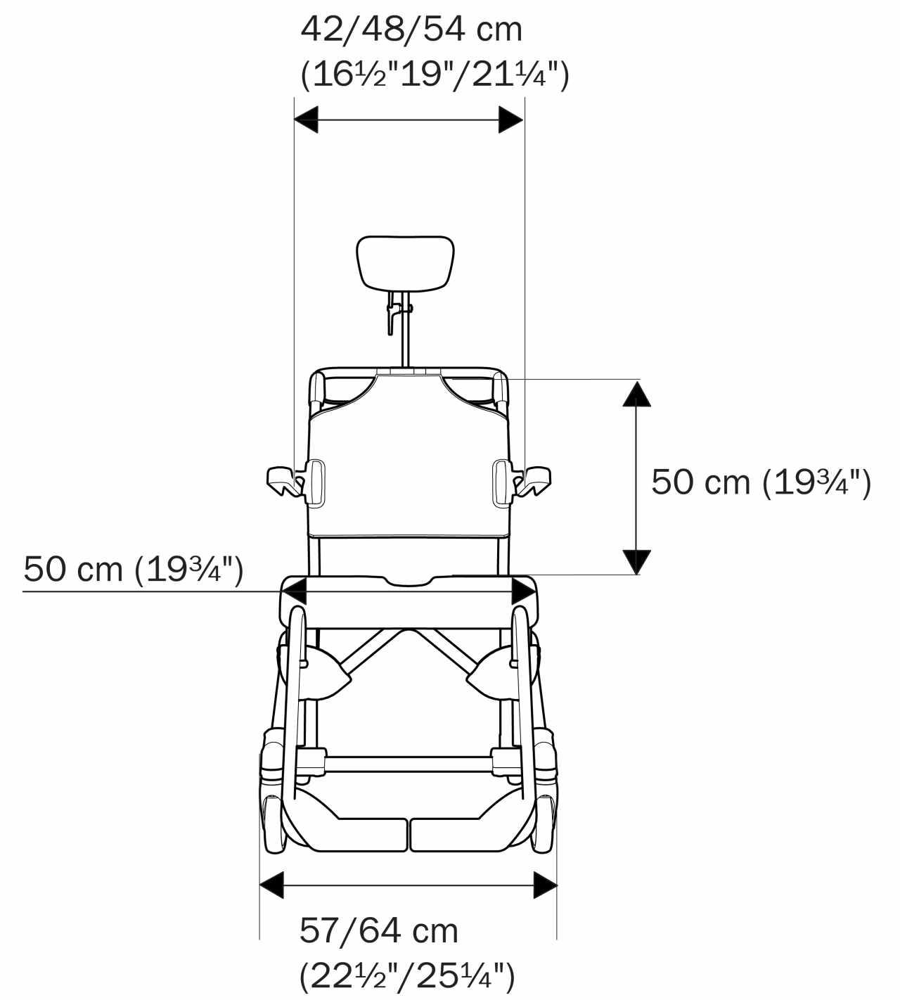Etac Swift Mobile tilt chair