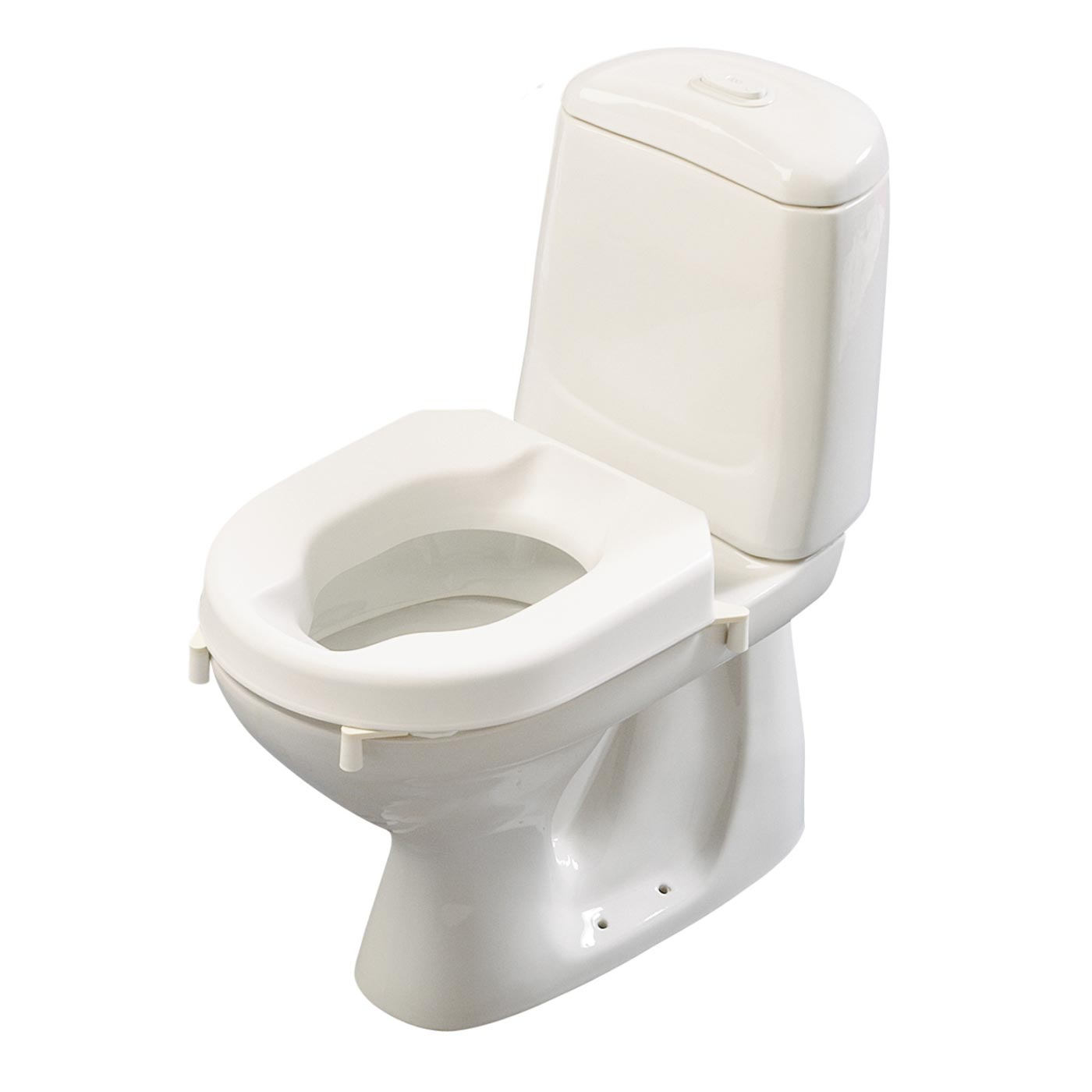 Etac Hi-Loo toilet seat raiser with brackets