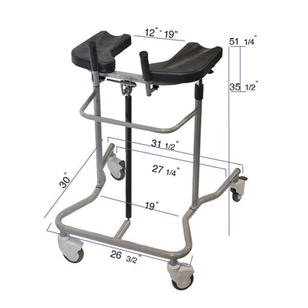 Eva pneumatic support walker