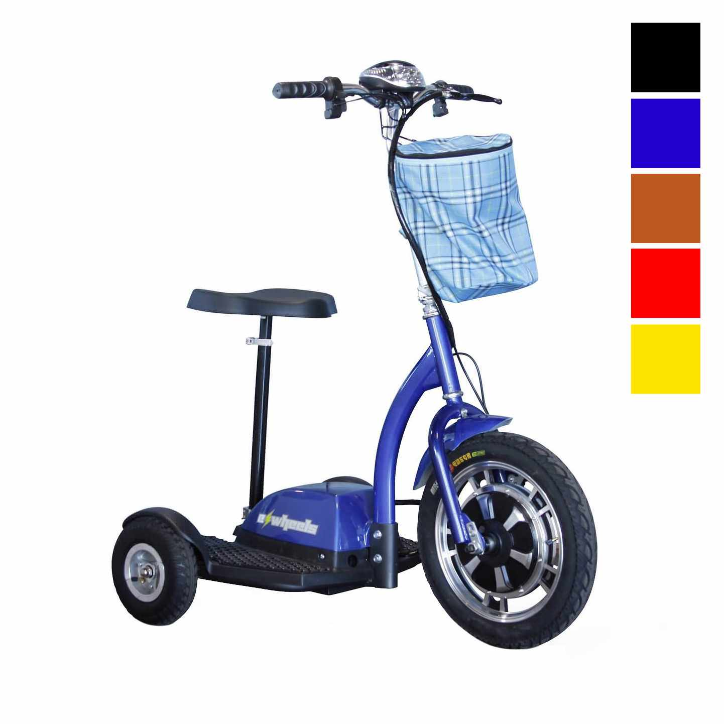 EWheels EW-18 Stand-n-Ride folding mobility scooter - Blue