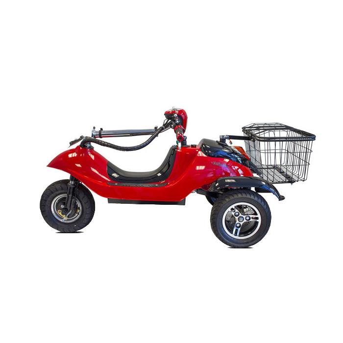 EWheels EW-19 Sporty 3-wheel mobility scooter - Side view