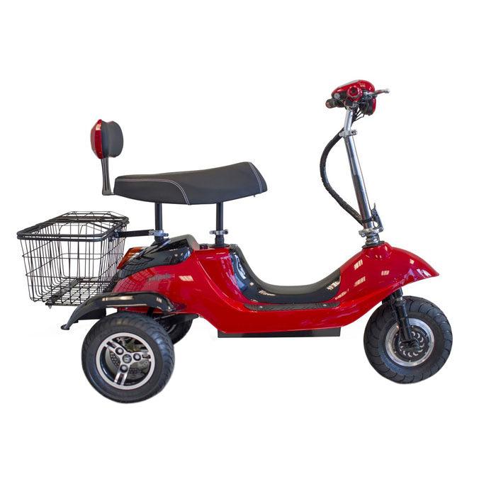 EWheels EW-19 Sporty three wheel mobility scooter - Side view