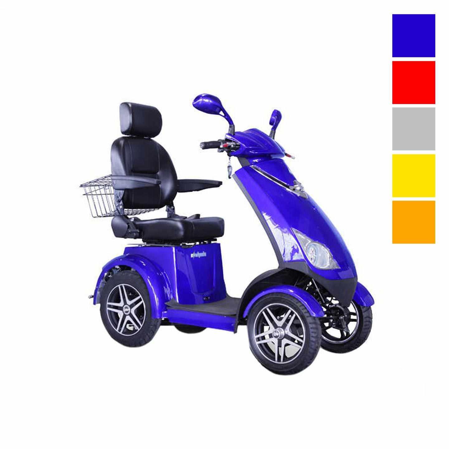 EWheels EW-72 four wheel mobility scooter - Blue