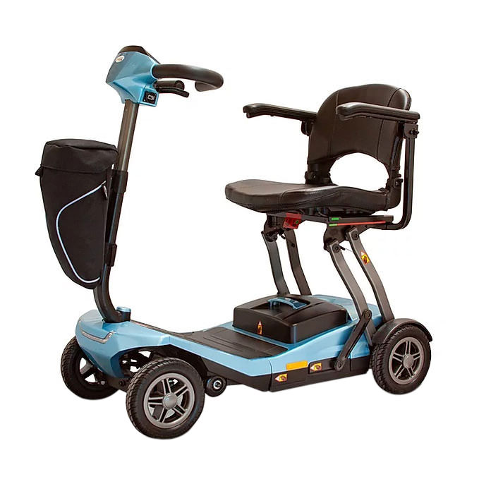 EWheels REMO four wheel folding scooter - Blue