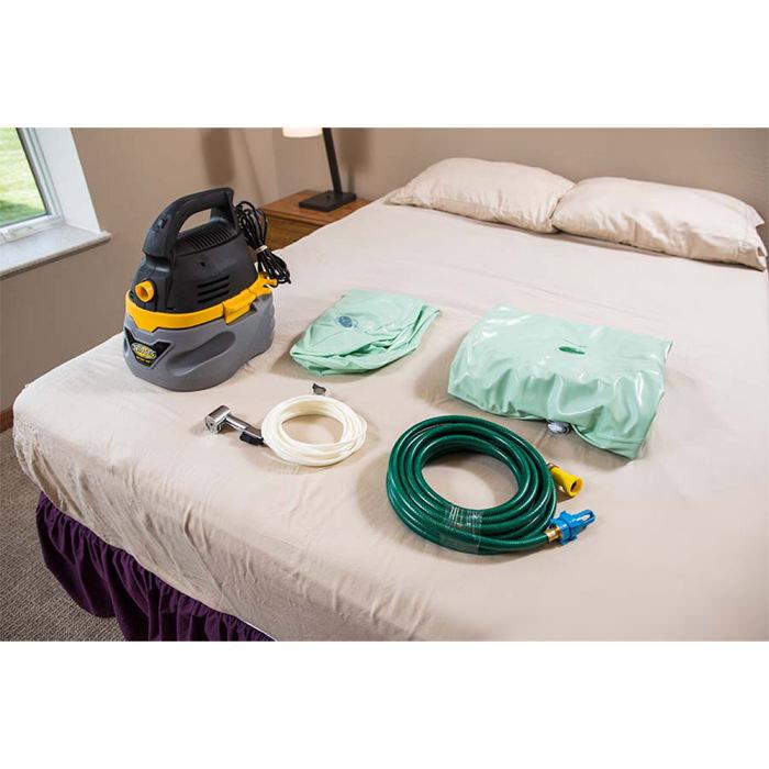EZ-bathe body washing basin - Vacuum, drain hose, hand-held shower