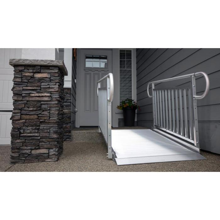 EZ Access gateway 3G ramp with vertical picket handrail