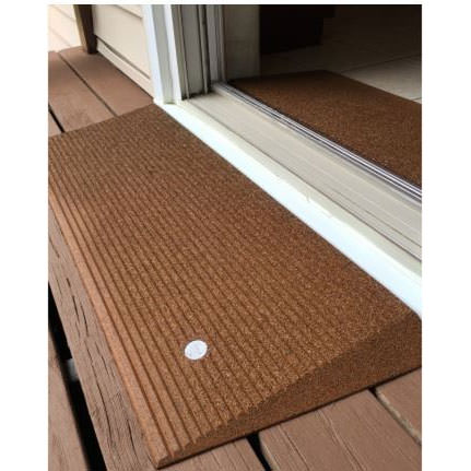 EZ Access transitions angled entry mat - Hazelnut brown