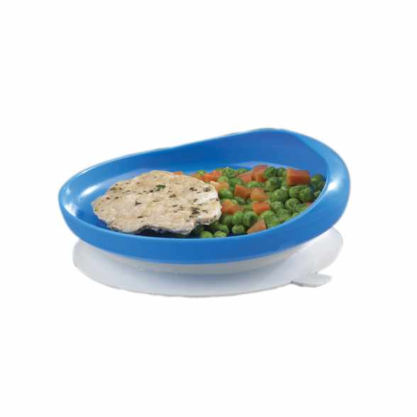 "FabLife Scoop plate with suction cup base, 6 3/4"" diameter"