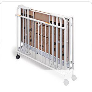 Stowaway folding steel crib