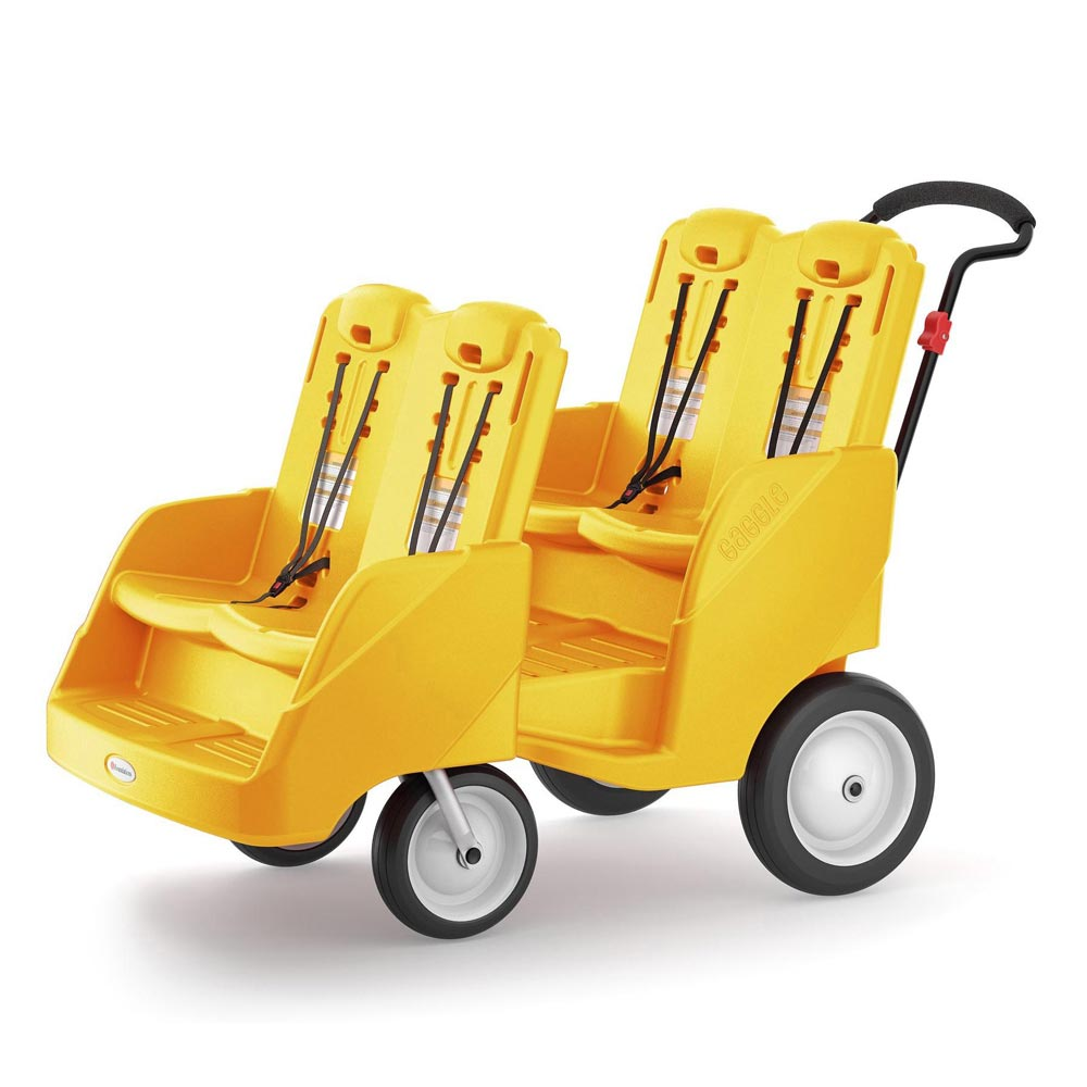 Gaggle 4-Passenger buggy stroller - Yellow
