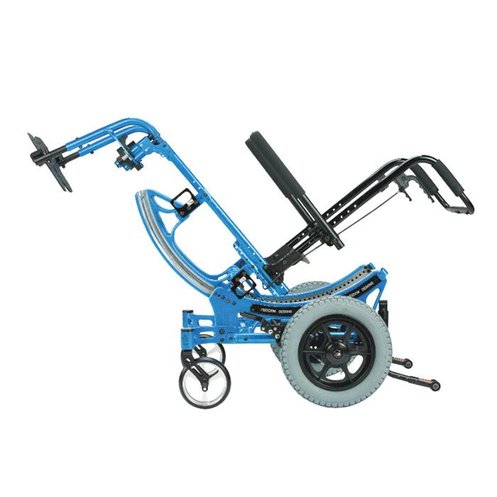 P.R.O. CG tilt manual wheelchair tilted
