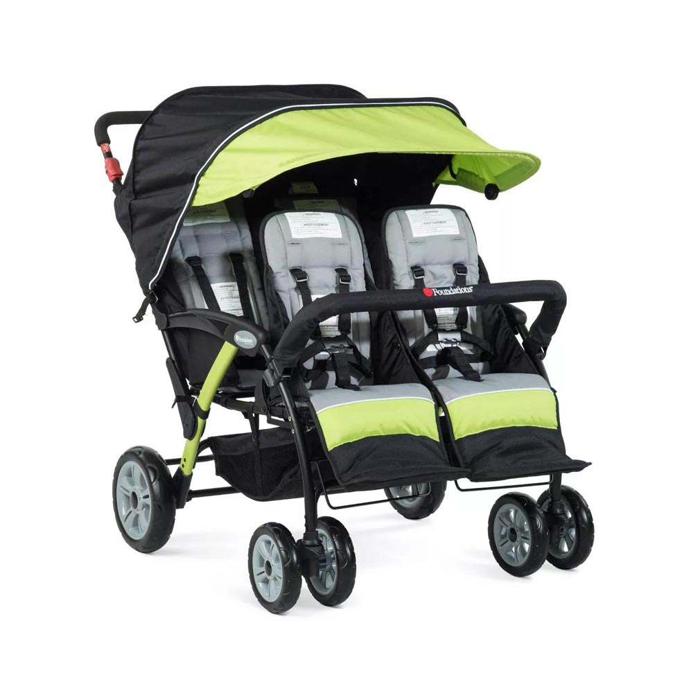 Foundations Quad Sport 4-Passenger stroller - Lime
