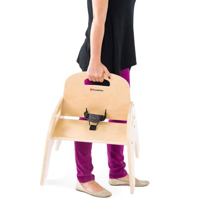 Simple sitter chair with handle