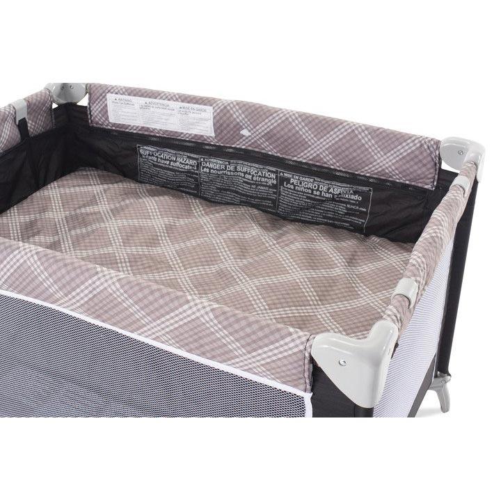 Sleep N Store travel yard with bassinet