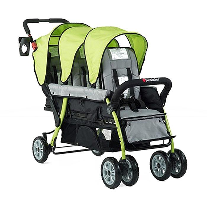 Trio Sport triple tandem stroller - Lime