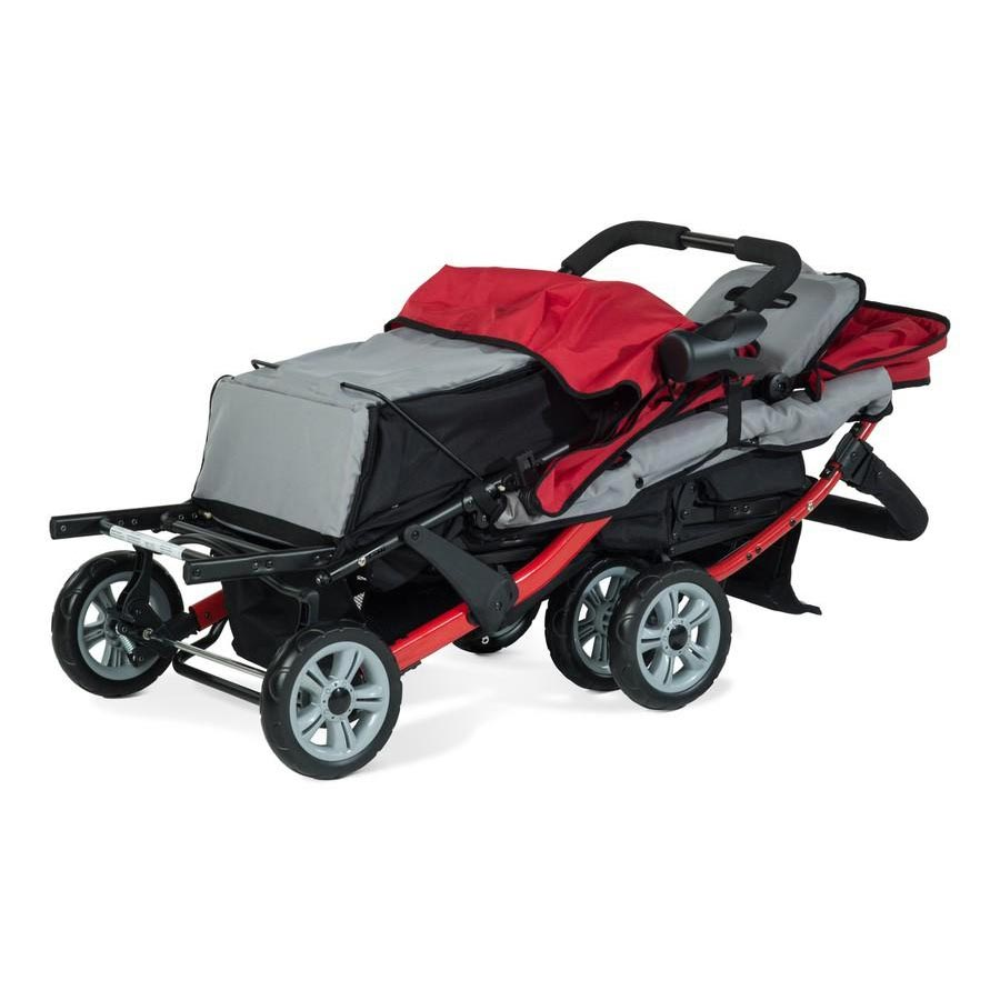 Trio Sport triple tandem stroller - Folded