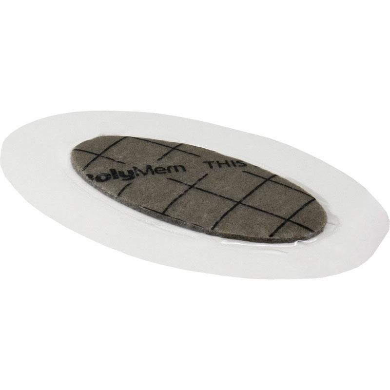 "PolyMem Shapes #3 QuadraFoam Wound Dressing with Silver 2"" x 3"" Oval with 1"" x 2"" Pad"