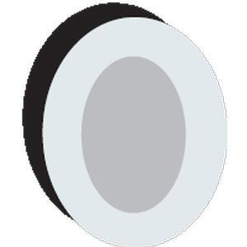 "PolyMem Shapes #5 QuadraFoam Wound Dressing with Silver 5"" x 3-1/2"" Oval with 3"" x 2"" Pad"