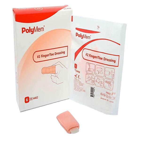 PolyMem #2 Finger/Toe Dressing, 8 to 12 Ring Size