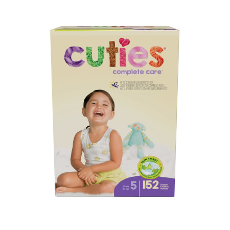 Cuties Complete Care Baby Diaper, Regular, Size 5