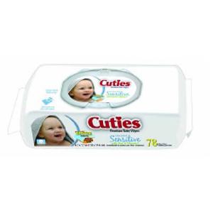 Cuties Aloe Scented Baby Wipe, Soft Pack