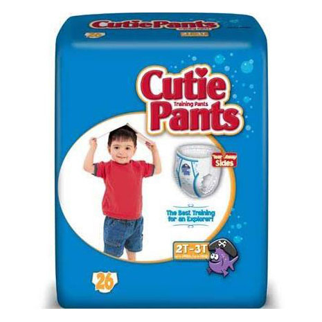 Cuties refasten-able training pants for boys 2T-3T, up to 34 lbs.