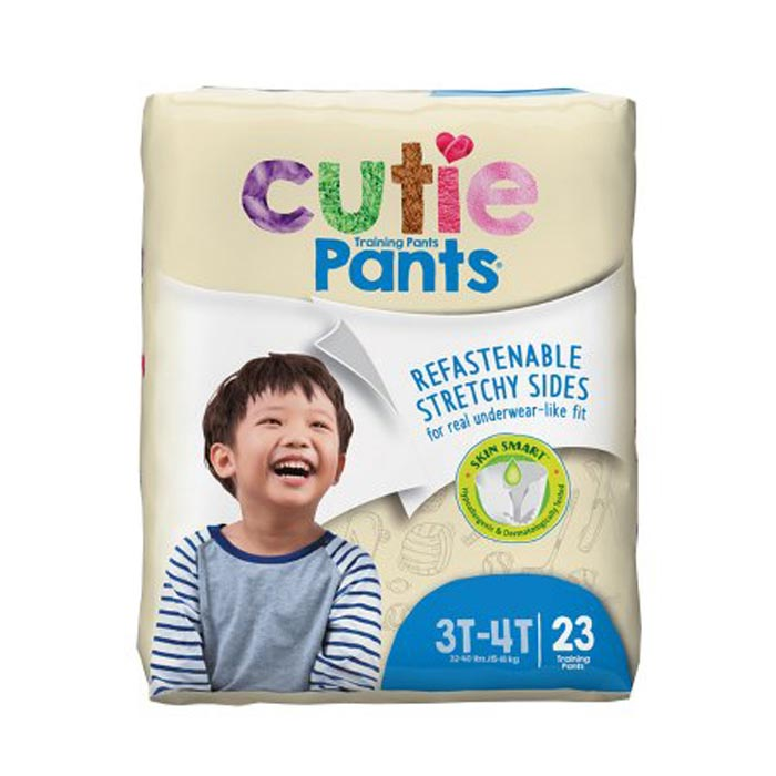 Cuties refasten-able training pants for boys 3T-4T, up to 32-40 lbs.