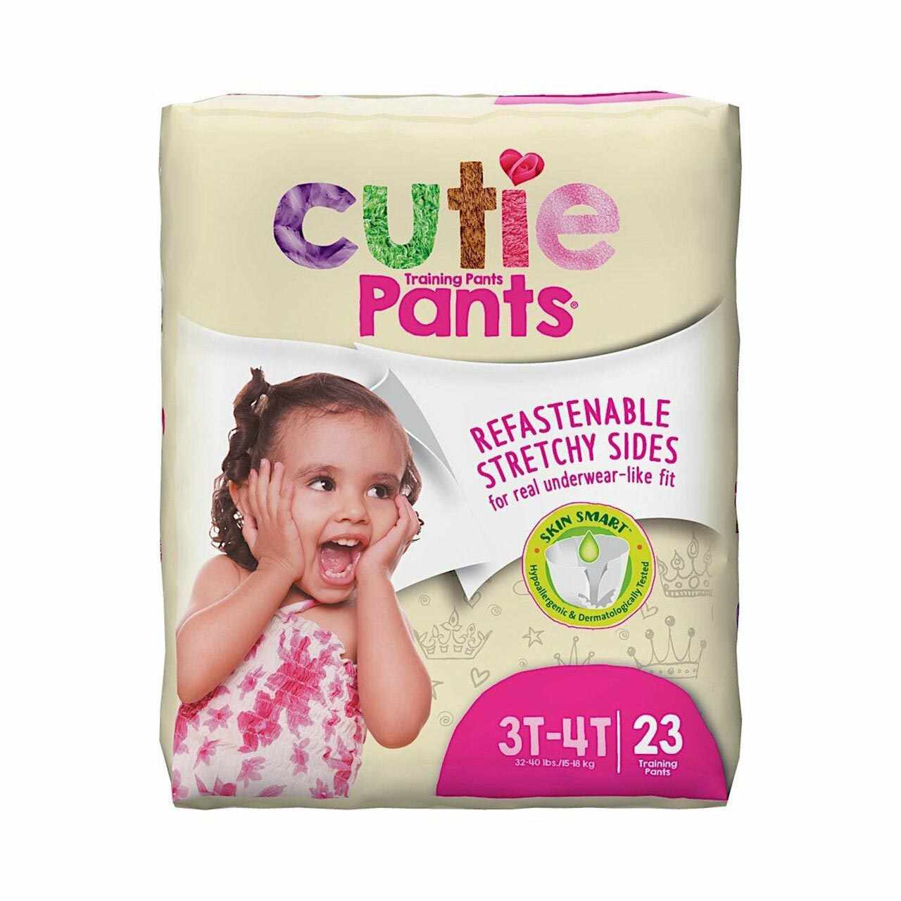 Cutie Pants Pull On Heavy Absorbency Toddler Training Pants, 3T-4T, Disposable