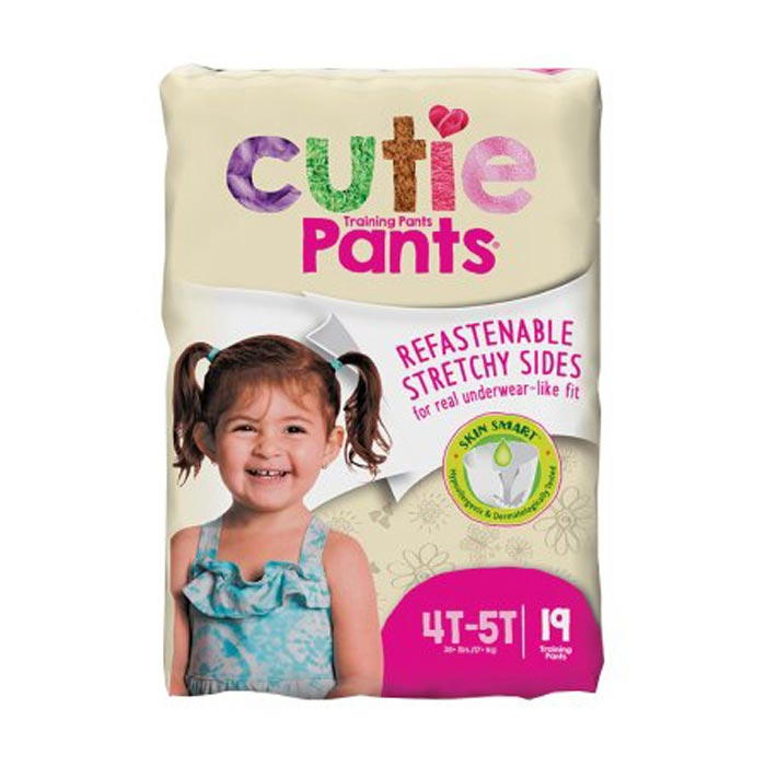 Cuties refasten-able training pants for girls 4T-5T, up to 38+
