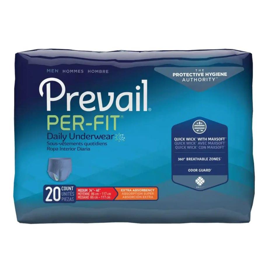 "Prevail Per-Fit Men's Protective Underwear, Medium (34"" to 46"")"
