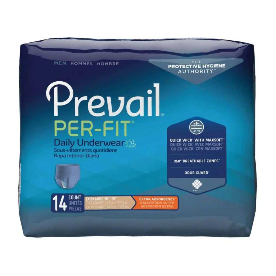 "Prevail Per-Fit Men's Protective Underwear, xL (58"" to 68"")"