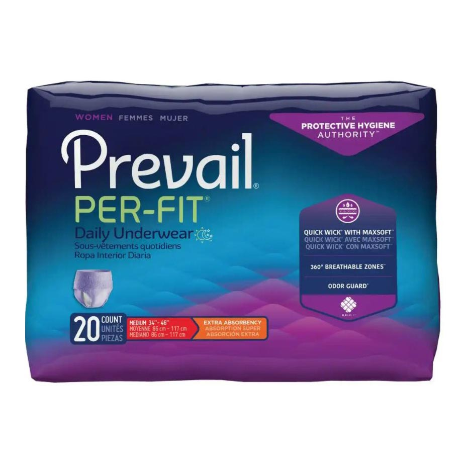 """Prevail Per-Fit Protective Underwear for Women, Medium (34"""" to 46"""")"""