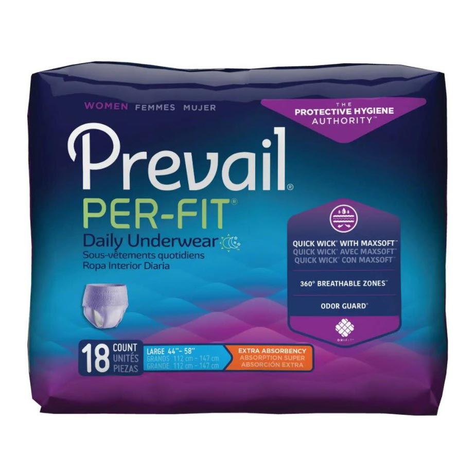 """Prevail Per-Fit Women's Protective Underwear, Large (44"""" to 58"""")"""