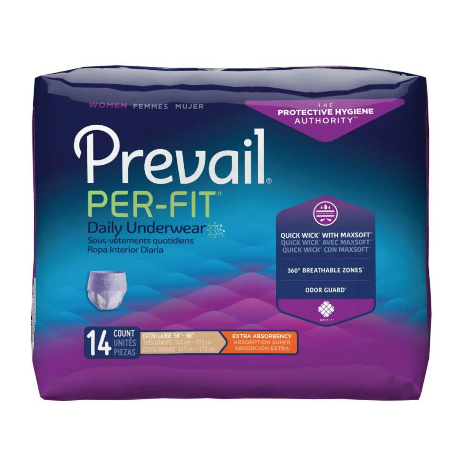 """Prevail Per-Fit Women's Protective Underwear, xL (58"""" to 68"""")"""