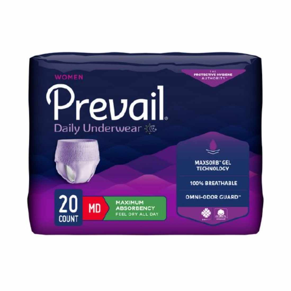 "Prevail Underwear for Women, Small/Medium (28"" to 40"")"