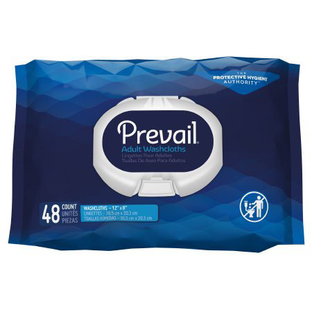 """Prevail disposable adult washcloth 12"""" x 8"""""""