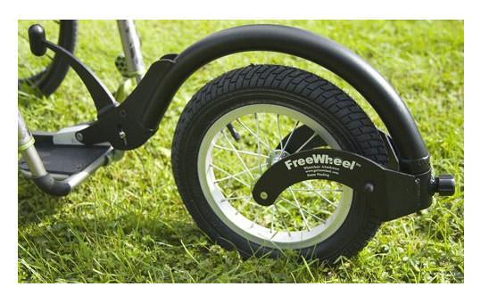 FreeWheel manual wheelchair attachment