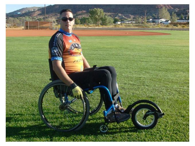 FreeWheel wheelchair attachment
