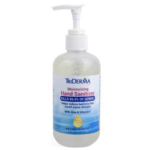 TriDerma Genuine Virgin Aloe Moisturizing Hand Sanitizer, 8 oz