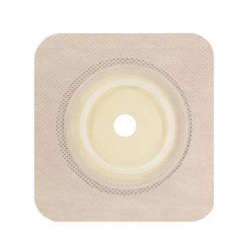 """Genairex Securi-T USA 2-Piece Cut-to-Fit Flat Wafer, Tan, 4-1/4"""" x 4-1/4"""", 1-3/4"""" Flange"""