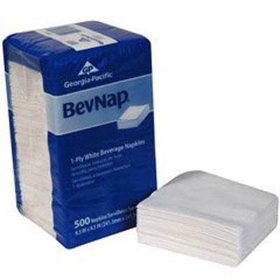 BevNap Paper Beverage Napkin, White