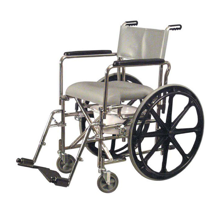"""Everest & Jennings rehab shower commode chair with 24"""" wheels"""