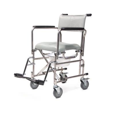 Everest & Jennings folding rehab shower commode chair