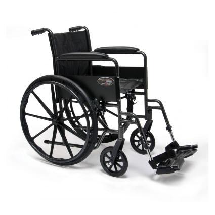Everest & Jennings Traveler SE wheelchair with swingaway footrests