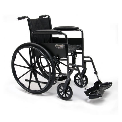 Everest & Jennings Traveler SE wheelchair with swingaway footrests