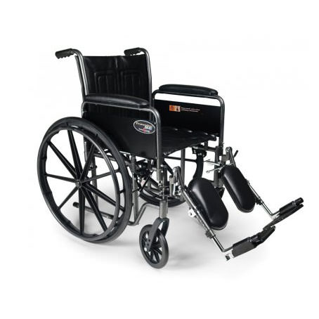 Everest & Jennings Traveler SE wheelchair, elevating legrest