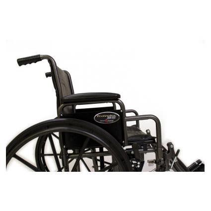 """Everest & Jennings Traveler SE wheelchair, 18"""" depth - Side view"""