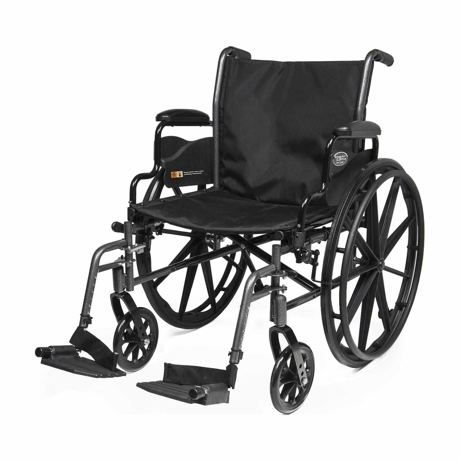 Everest & jennings Traveler L3 plus wheelchair with elevating legrest