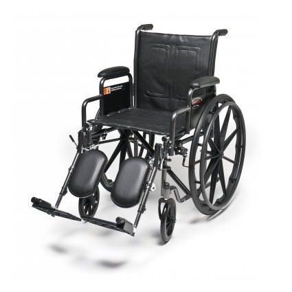 Everest & Jennings Advantage wheelchair with elevating legrests